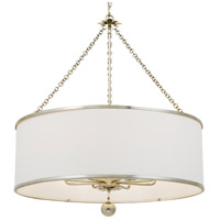 Crystorama 515-SA Broche 8 Light 29 inch Antique Silver Chandelier Ceiling Light in Antique Silver (SA)