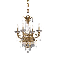 Crystorama Regal 6 Light Chandelier in Aged Brass with Hand Cut Crystals 5154-AG-CL-MWP