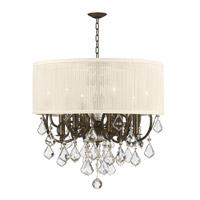 Crystorama Brentwood 6 Light Chandelier in English Bronze 5155-EB-SAW-CLM photo thumbnail