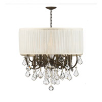 Crystorama Brentwood 6 Light Chandelier in English Bronze 5155-EB-SAW-CLQ photo thumbnail