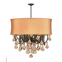 Crystorama Brentwood 6 Light Chandelier in English Bronze 5155-EB-SHG-GTS photo thumbnail