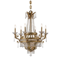 Crystorama Regal 9 Light Chandelier in Aged Brass 5156-AG-CL-MWP