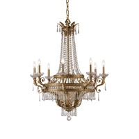 Crystorama Regal 12 Light Chandelier in Aged Brass with Hand Cut Crystals 5158-AG-CL-MWP