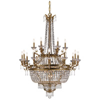 Crystorama Regal 27 Light Chandelier in Aged Brass with Hand Cut Crystals 5159-AG-CL-MWP