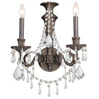 Crystorama Vanderbilt 2 Light Wall Sconce in English Bronze 5162-EB-CL-MWP