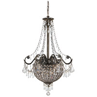 Crystorama Vanderbilt 6 Light Pendant in English Bronze, Clear Crystal, Hand Cut 5164-EB-CL-MWP