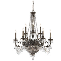 Crystorama Vanderbilt 12 Light Chandelier in English Bronze with Hand Cut Crystals 5168-EB-CL-MWP