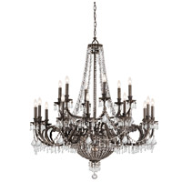 Crystorama Vanderbilt 23 Light Chandelier in English Bronze, Clear Crystal, Hand Cut 5169-EB-CL-MWP
