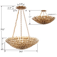 Crystorama 517-GA Broche 6 Light 25 inch Antique Gold Chandelier Ceiling Light in Antique Gold (GA), 24-in Width alternative photo thumbnail