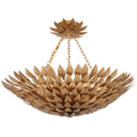 Crystorama Broche 6 Light Semi-Flush Mount in Antique Gold 517-GA_CEILING