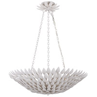 Crystorama 517-MT Broche 6 Light 25 inch Matte White Chandelier Ceiling Light in Matte White (MT), 26.5-in Width