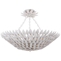 Crystorama 517-MT_CEILING Broche 6 Light 25 inch Matte White Pendant Ceiling Light in Matte White (MT), 26.5-in Width