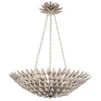 Broche 6 Light 25 inch Antique Silver Chandelier Ceiling Light in Antique Silver (SA), 24-in Width