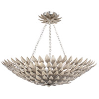 Crystorama 517-SA_CEILING Broche 6 Light 25 inch Antique Silver Flush Mount Ceiling Light in Antique Silver (SA), 24-in Width