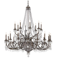 Crystorama Vanderbilt 29 Light Chandelier in English Bronze, Clear Crystal, Hand Cut 5170-EB-CL-MWP