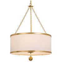 Broche 6 Light 24 inch Antique Gold Chandelier Ceiling Light