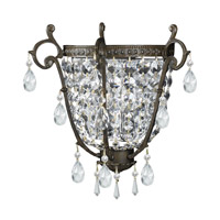 Crystorama Lighting Manchester 2 Light Wall Sconce in English Bronze & Hand Cut Clear Crystal 5180-EB-CL-MWP photo thumbnail