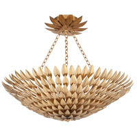 Crystorama Broche 8 Light Flush Mount in Antique Gold 519-GA_CEILING