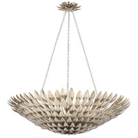 Broche 8 Light 30 inch Antique Silver Chandelier Ceiling Light in Antique Silver (SA)