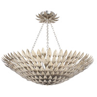 Crystorama 519-SA_CEILING Broche 8 Light 30 inch Antique Silver Flush Mount Ceiling Light in Antique Silver (SA)