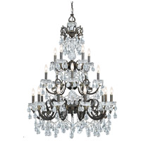 Crystorama Legacy 20 Light Chandelier in English Bronze, Italian Crystals 5190-EB-CL-I