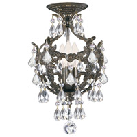 Crystorama 5193-EB-CL-S_CEILING Legacy 3 Light 10 inch English Bronze Mini Chandelier Ceiling Light in Clear Swarovski Strass