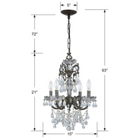 Crystorama 5194-EB-CL-MWP Legacy 4 Light 15 inch English Bronze Mini Chandelier Ceiling Light in Clear Hand Cut alternative photo thumbnail