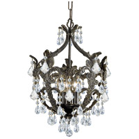 Crystorama Legacy 5 Light Mini Chandelier in English Bronze with Hand Cut Crystals 5195-EB-CL-MWP