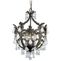 Crystorama 5195-EB-CL-SAQ Legacy 5 Light 14 inch English Bronze Mini Chandelier Ceiling Light in Swarovski Spectra (SAQ)