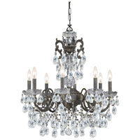 Crystorama Legacy 8 Light Chandelier in English Bronze, Hand Cut 5198-EB-CL-MWP