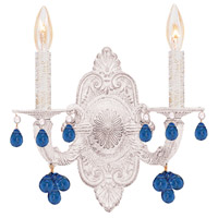 Crystorama 5200-AW-BLUE Paris Market 2 Light 11 inch Antique White Wall Sconce Wall Light