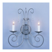 Crystorama Soho 2 Light Wall Sconce in Natural Iron with Hand Polished Crystals 5202-IR