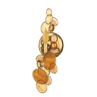 Crystorama Palla 1 Light Wall Sconce in Antique Gold Leaf with Hand Cut Crystals 521-L-GA