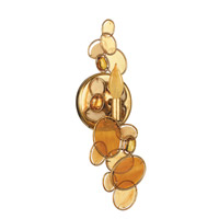 Crystorama Palla 1 Light Wall Sconce in Antique Gold Leaf with Hand Cut Crystals 521-R-GA