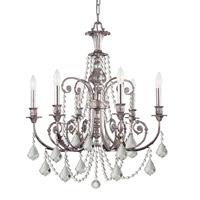 Crystorama Lighting Regis 6 Light Chandelier in Olde Silver & Hand Cut Clear Crystal 5216-OS-CL-MWP photo thumbnail