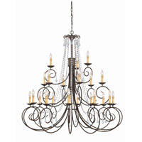 Crystorama SOHO 21 Light Chandelier in Dark Rust, Hand Cut 5219-DR-CL-MWP