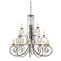 Crystorama Soho 21 Light Chandelier in Dark Rust with Swarovski Spectra Crystals 5219-DR-CL-SAQ