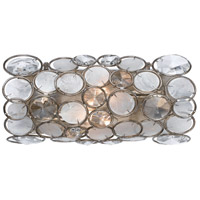 Crystorama Palla 2 Light Wall Sconce in Antique Silver 522-SA