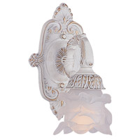 Crystorama Paris Flea Market 1 Light Wall Sconce in Antique White 5221-AW