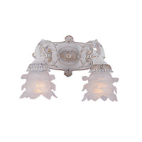 Crystorama Paris Flea Market 2 Light Wall Sconce in Antique White 5222-AW