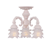 Crystorama Paris Flea Market 3 Light Semi-Flush Mount in Blush 5223-BH