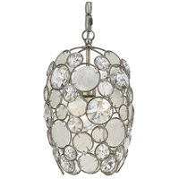 Palla 1 Light 9 inch Antique Silver Mini Chandelier Ceiling Light in Hand Cut, Antique Silver (SA)