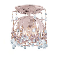 Crystorama Melrose 1 Light Semi-Flush Mount in Blush with Murano Crystals 5230-BH-CLEAR