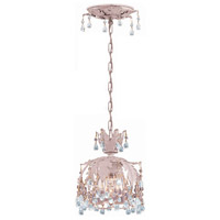 Crystorama Melrose 1 Light Pendant in Blush, Clear Crystal 5235-BH-CLEAR
