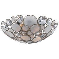 Crystorama Palla 3 Light Semi-Flush Mount in Antique Silver 524-SA