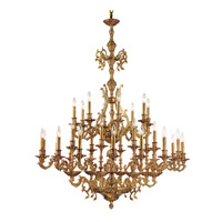 Yorkshire 32 Light 44 inch Aged Brass Chandelier Ceiling Light in Aged Brass (AG)