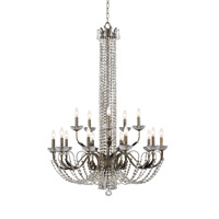 Crystorama Lighting Flatiron 15 Light Chandelier in English Bronze & Hand Cut Clear Crystal 5259-EB-CL-MWP