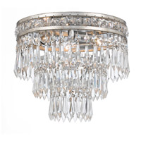Crystorama 5260-OS-CL-MWP Mercer 3 Light 11 inch Olde Silver Flush Mount Ceiling Light in Olde Silver (OS)
