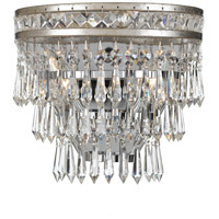 Crystorama 5261-OS-CL-MWP Mercer 2 Light 10 inch Olde Silver Wall Sconce Wall Light in Olde Silver (OS)