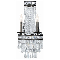Crystorama Mercer 2 Light Wall Sconce in English Bronze with Hand Cut Crystals 5262-EB-CL-MWP